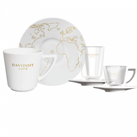Davidoff porcelán a sklenice